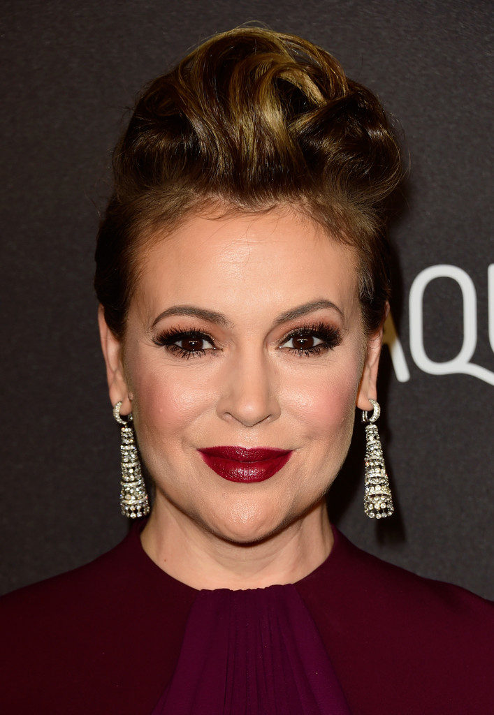 Alyssa Milano Makeup Photos