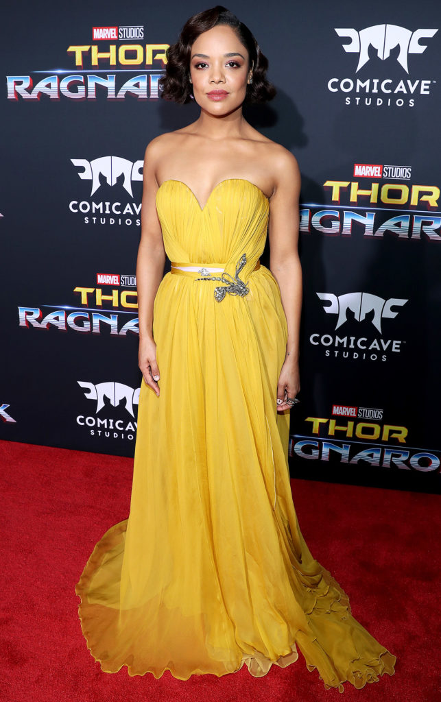 Tessa Thompson Yellow Gown Pics At Event