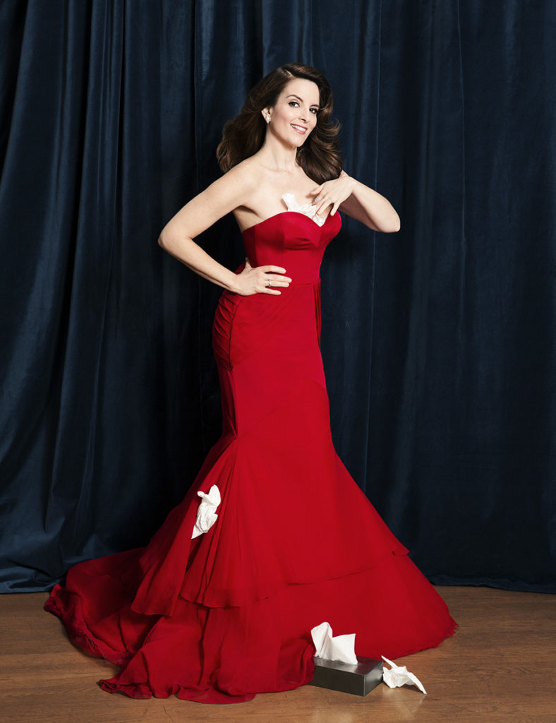 Tina Fey Beautiful Red Gown Images