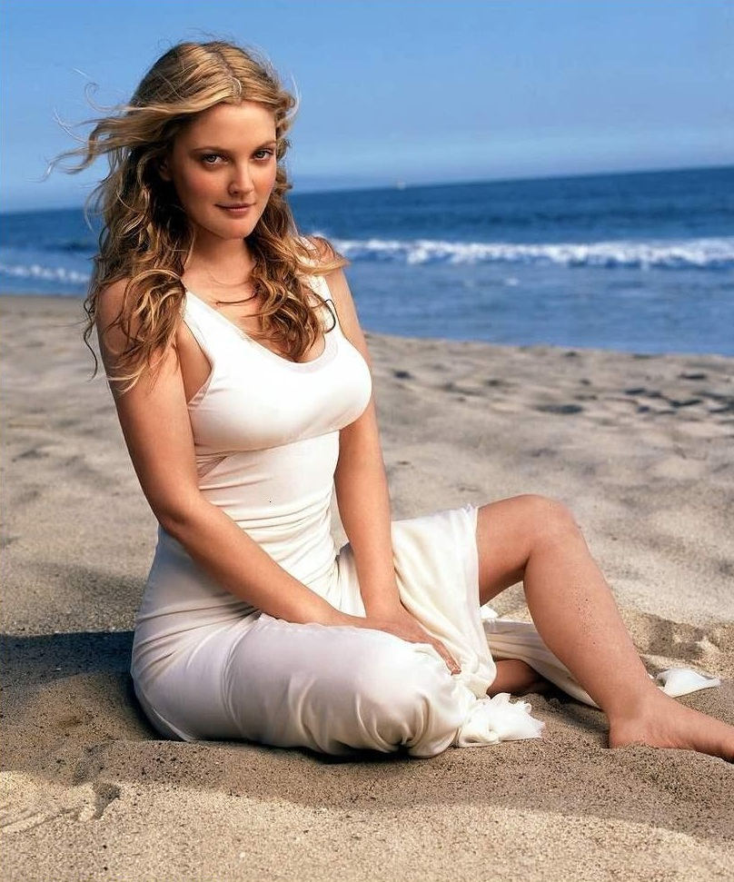 Drew-Barrymore-Beach-Images