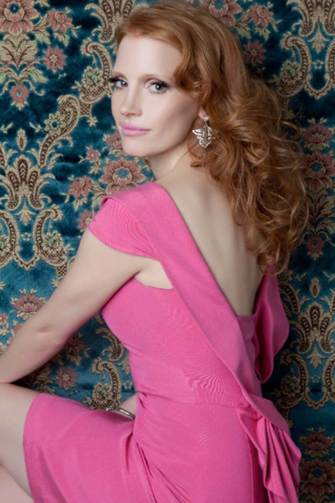 Jessica-Chastain-Backless-Images