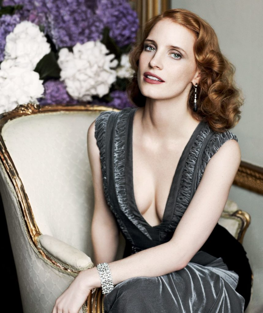 Jessica-Chastain-Braless-Images